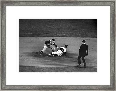 Maury Wills (1932- ) Framed Print by Granger