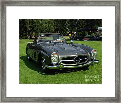 Mercedes 300 Sl Framed Print by Peter Piatt