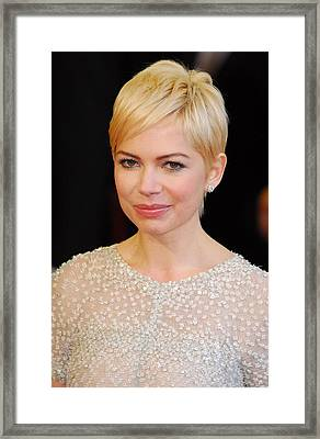 Michelle Williams At Arrivals For The Framed Print by Everett