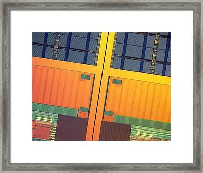 Microchip, Light Micrograph Framed Print by Robert Markus
