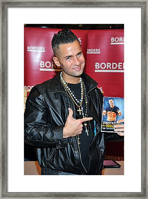 Mike The Situation Sorrentino Framed Print by Everett