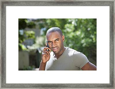 Mobile Phone Use Framed Print by