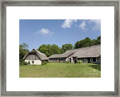 Muhu Museum Exterior In Estonia Framed Print by Jaak Nilson