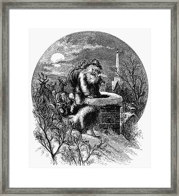 Nast: Santa Claus Framed Print by Granger