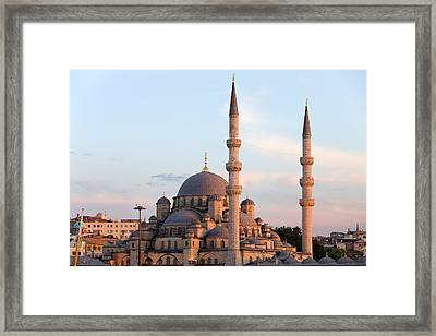 New Mosque In Istanbul Framed Print by Artur Bogacki