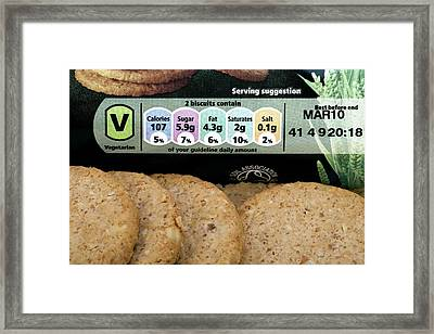 Nutritional Information Framed Print by Paul Rapson