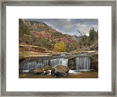 Oak Creek In Slide Rock State Park Framed Print by Tim Fitzharris