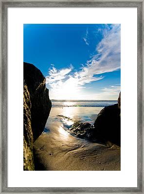 Ocean Beach Framed Print by Mickey Clausen