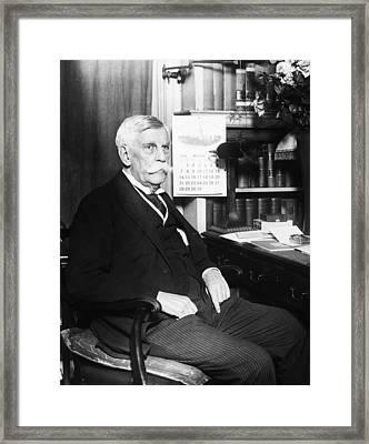 Oliver Wendell Holmes, Jr. 1841-1935 Framed Print by Everett