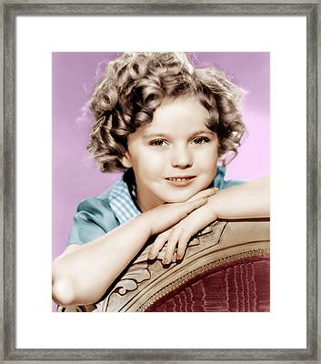 Our Little Girl, Shirley Temple, 1935 Framed Print by Everett
