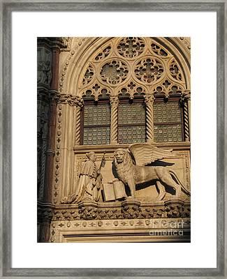 Palace Ducal . Venice Framed Print by Bernard Jaubert