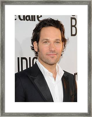 Paul Rudd At Arrivals For Our Idiot Framed Print by Everett