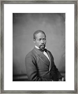 Portrait Of An African American Man Framed Print by Everett