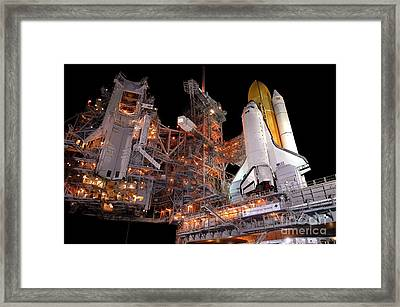 Preparing Return To Flight Mission Framed Print by NASA / Kennedy Space Center