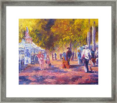 Promenade Framed Print by Terry  Chacon