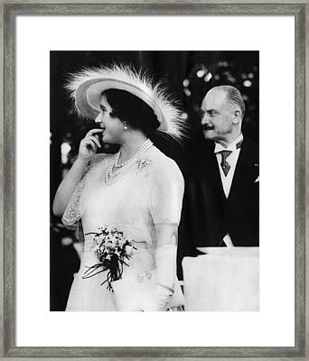 Queen Elizabeth, The Former Duchess Framed Print by Everett