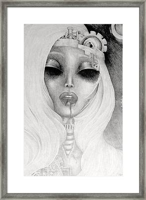 Queen Machina Framed Print by Melissa Cabigao