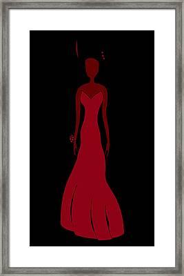 Red Dress Framed Print by Frank Tschakert
