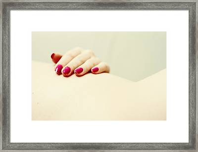 Red Is My Color Framed Print by Stelios Kleanthous