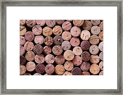 Red Wine Corks Framed Print by Frank Tschakert