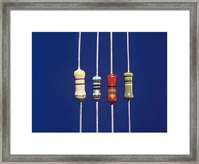 Resistors Framed Print by Andrew Lambert Photography