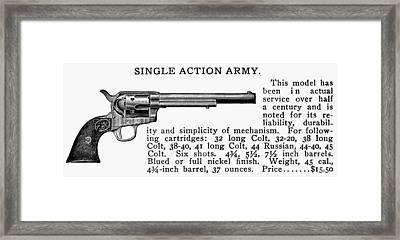 Revolver, 19th Century Framed Print by Granger