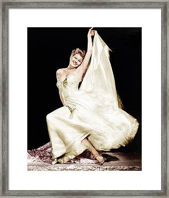 Rita Hayworth, 1940s Framed Print by Everett