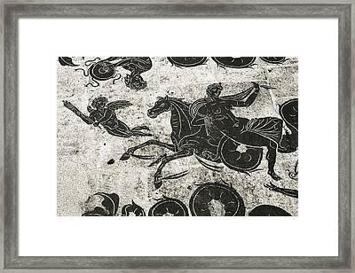 Roman Mosaic, Ostia Antica Framed Print by Sheila Terry