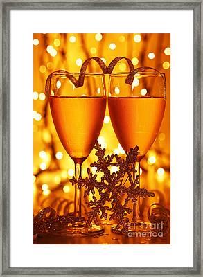 Romantic Holiday Celebration Framed Print by Anna Omelchenko