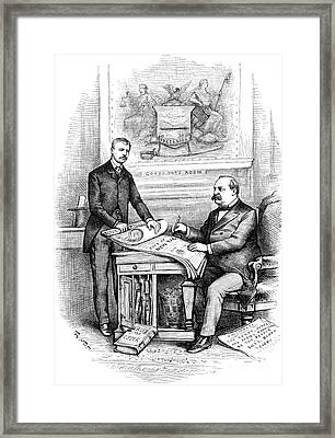 Roosevelt Cartoon, 1884 Framed Print by Granger