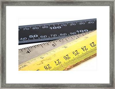 Rulers Framed Print by Blink Images