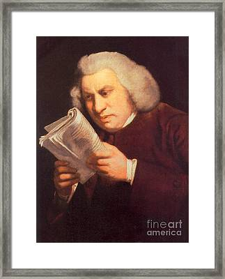 Samuel Johnson, English Author Framed Print by Photo Researchers