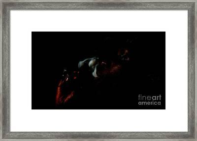 Smoking Man Framed Print by Lenroy Johnson