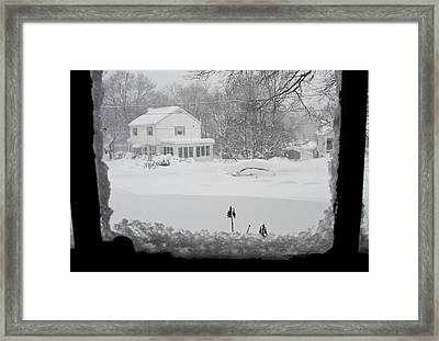Snow Covers The Streets Framed Print by Stacy Gold