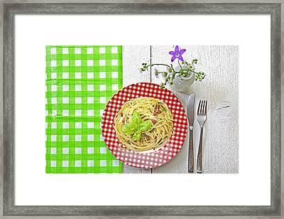 Spaghetti Al Pesto Framed Print by Joana Kruse