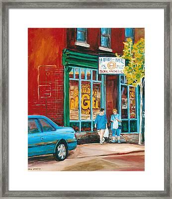 St. Viateur Bagel Shop Framed Print by Carole Spandau