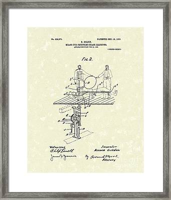 Stage Illusions 1906 Patent Art Framed Print by Prior Art Design