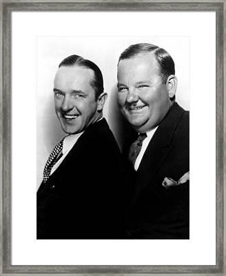 Stan Laurel, Oliver Hardy Laurel & Hardy Framed Print by Everett