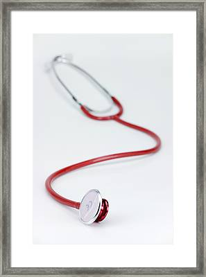 Stethoscope Framed Print by Paul Rapson