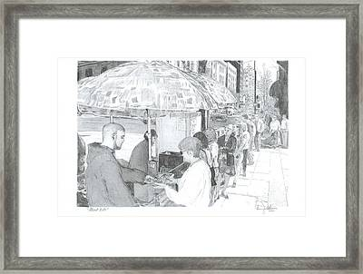 Street Eats Framed Print by Larry Oldham