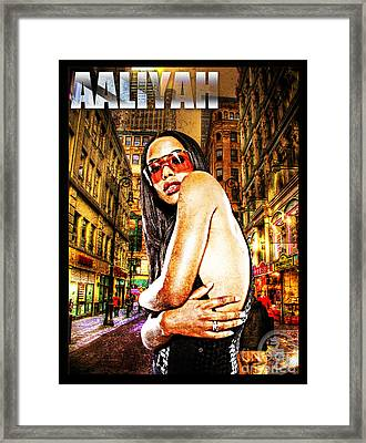 Street Phenomenon Aaliyah Framed Print by The DigArtisT
