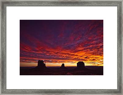 Sunrise Over Monument Valley, Arizona Framed Print by Robert Postma