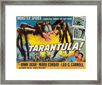 Tarantula, John Agar, Mara Corday, 1955 Framed Print by Everett