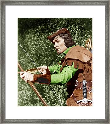 The Adventures Of Robin Hood, Errol Framed Print by Everett