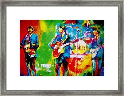 The Beatles Framed Print by Leland Castro