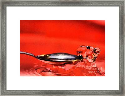 The Drop Framed Print by Odon Czintos