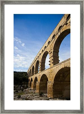 The Famous Pont Du Gare In France Framed Print by Taylor S. Kennedy