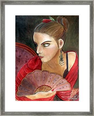 The Flamenco Dancer Framed Print by Pilar  Martinez-Byrne
