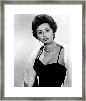 The Key, Sophia Loren, 1958 Framed Print by Everett