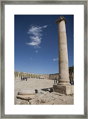 The Oval Plaza In The Ruins Framed Print by Taylor S. Kennedy